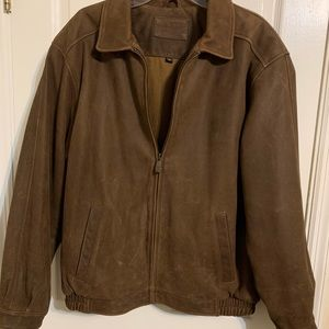Croft and Barrow  Men Leather Bomber Jacket